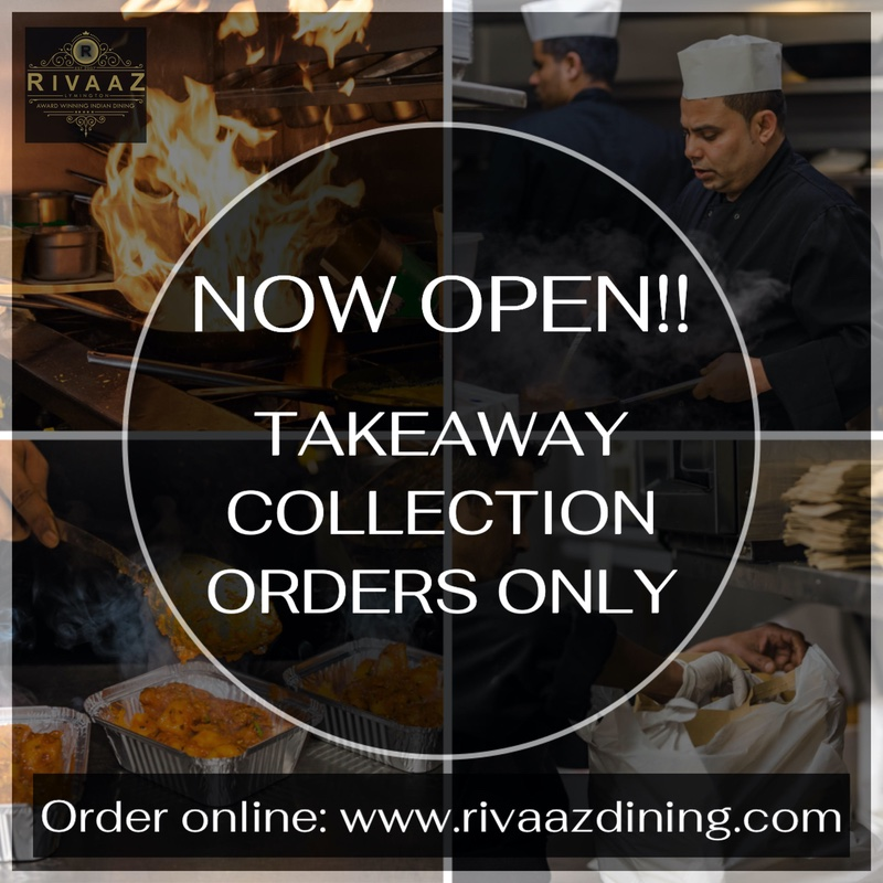 Now open! Takeaway Collection Orders Only