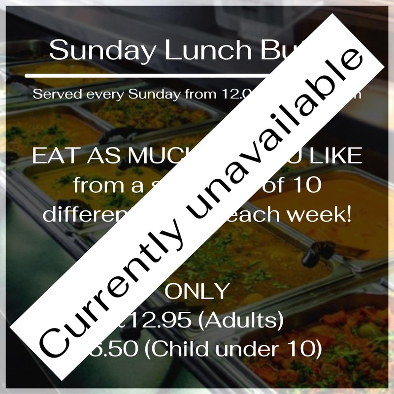 Sunday Lunch Buffet - Currently Unavailable
